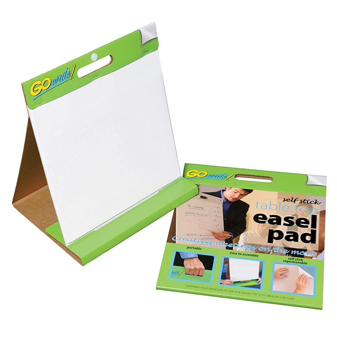 GoWrite! Self-Stick Table Top Easel Pad, 16