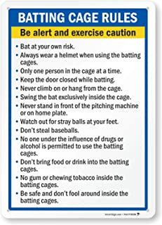batting cage signs