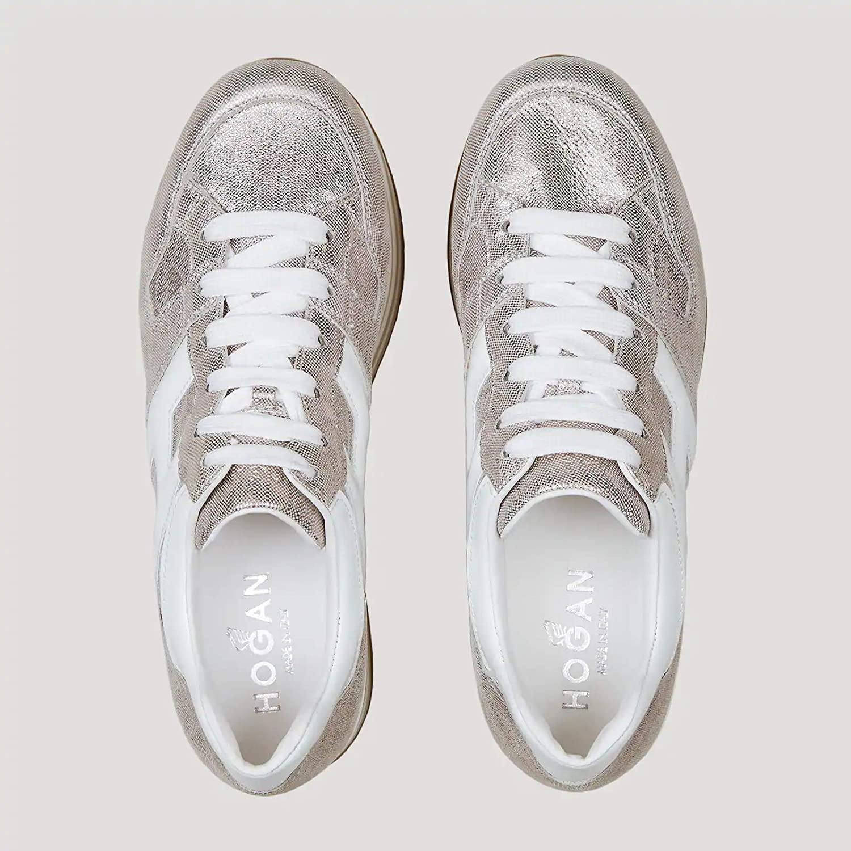 Hogan Sneakers Donna Maxi H222 Rosa e Bianco - HXW2830T548 N580QWW ...