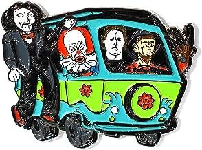 Horror Movie Pin Jigsaw Michael Myers Freddy Krueger IT Mystery Machine Pendant Lapel Hat Pin