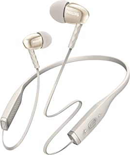 Fone de Ouvido Sem Fio Philips MetalixPro SHB5950WT com Bluetooth/Microfone - Branco
