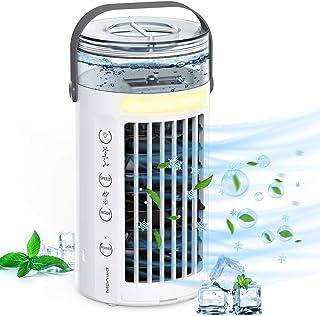 Manwe Climatiseur Portable, 450ML Climatiseur Mobile, Refroidisseur d'air, 4 en 1 humidificateur d'air, 3 Vitesses et 2 Mo...