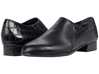 Munro Marteen (Black Leather/Croc) Women