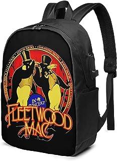 Fleetwood Music Rock Mochila para portátil de 17 Pulgadas con Puerto de Carga para Auriculares USB Bookbag