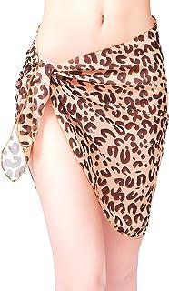 Women Short Sarongs Beach Wrap Sheer Bikini Wraps Chiffon Cover Ups for Swimwear L