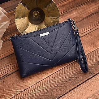 Mrs Li/'s shop Nouveau Sac /à bandouli/ère de Couleur Unie Simple pour Femme Sac /à bandouli/ère Ligne Losange Ligne Broderie Diagonale Petit Sac Femme