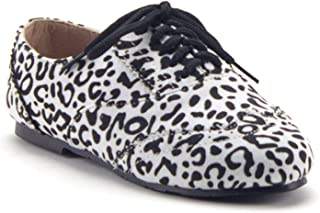 Jazamé Toddler Little Girls' Lace Up Round Toe Oxfords Bluchers Preppy School Shoes