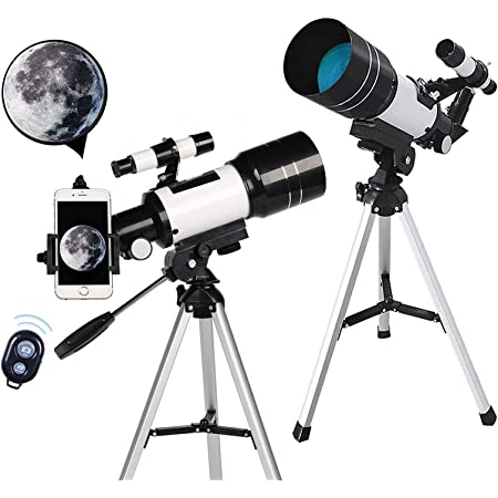 Telescope for Adults/&Astronomy Beginners 70mm Aperture 300mm AZ Mount Magnification Astronomical Refractor Telescope Portable Travel Telescope for Adults Great Astronomy Gift for Kids
