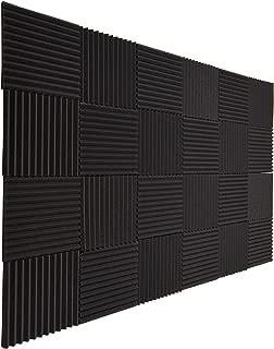 Huiermei Acoustic Foam Panels Fireproof Sound Absorbing Panels Studio Foam Wedges for Walls 24Pack, 1