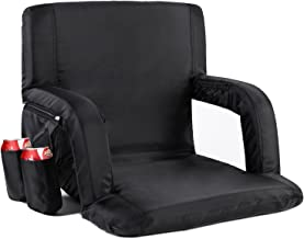 Sportneer Stadium Seat Portable Seats Chairs for Bleachers with Backs and Padded Cushion