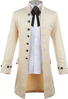 Men's Steampunk Tailcoat Jacket Gothic Victorian Frock Coat Tuxedo Halloween Costume