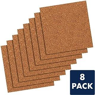 Quartet Cork Tiles, Cork Board, 12 inches x 12 inches, Corkboard, Wall Bulletin Boards, Natural, 8 Pack (108)