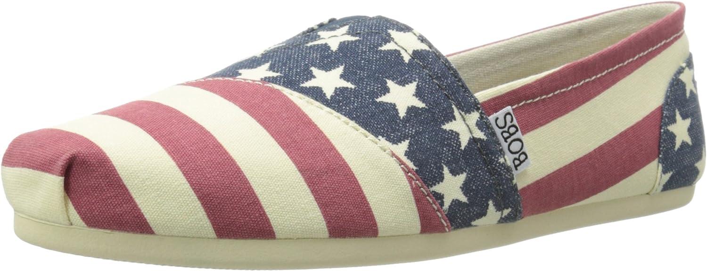 BOBS from Skechers Women's Plush Lil Americana Flat