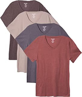Bolter 4 Pack Men's Everyday Cotton Blend V Neck Short Sleeve T Shirt