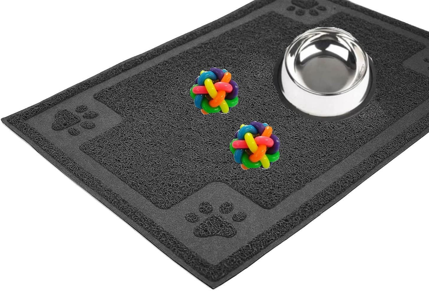 Lacertus Pet Feeding Mat, Bowl Mats for Dog and Cat, Silicone Non-Slip Absorbent Waterproof Mat, Easy to Clean Mats, Dog Dish Mats for Floors Waterproof, Placemat for Dog Bowls