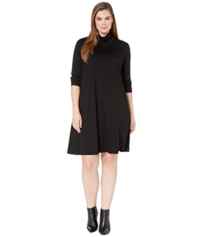 Karen Kane Plus Plus Size Quinn Turtleneck Dress (Black) Women
