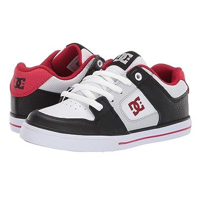 DC Kids Pure (Little Kid/Big Kid) (Black/Grey/Red) Boys Shoes