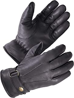 SKYDEER Premium Genuine Deerskin Leather Touch-Screen Winter Driving Gloves for Extreme Cold Condition (SD8681T)
