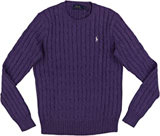 Womens Cable Knit Crew Neck Sweater