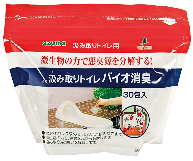 フェリー余剰フラップアズマ 消臭剤TK汲み取りトイレバイオ消臭30包入20g×30包簡単消臭