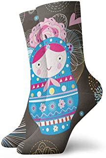 Novedad Divertido Crazy Crew Sock Flower Doll Impreso Sport Athletic Calcetines 30cm de largo Calcetines personalizados de regalo