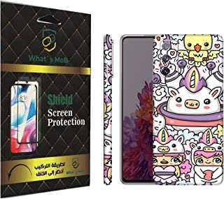 For SAMSUNG Galaxy S20 FE back full skin Doodle 09 soft felling Hd print by whats mob (Not Cover)