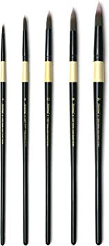 No.1 ~ No.5 Herend Brush Series RF-8800 No.1 for Watercolor with Squirrel Hair//Filbert Ponited Paintbrush