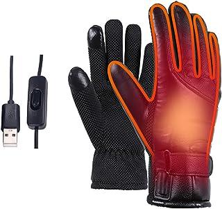 Urijk 電熱手袋 ヒーターグローブ 防寒グローブ USB あったか手袋 タッチスクリーン 冬用 防風 保温 防寒対策 釣りハイキングサイクリング 男女兼用(USBブラック,スイッチ)