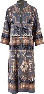 Boho Bird Womens Jackets Meadow Walker Embroidered Jacket Navy - Coats