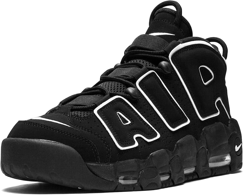 Nylon Prescripción Condimento  Amazon.com | Nike Mens Air More Uptempo Black/White-Black Leather |  Basketball