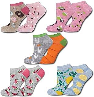 Calcetines cortos para mujer, con divertidos dibujos, tallas 35 – 40