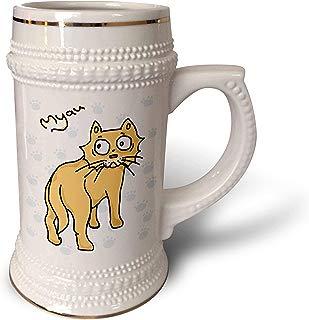 3dRose Warya - Animals. - Ginger Cat Say Meou - 22oz Stein Mug (stn_299938_1)