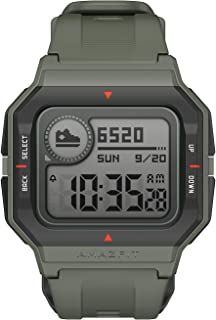 Amazfit Neo Smart Watch, Retro Design, 28-Day Battery Life, Always-on Display, 5ATM Water Resistant, Lightweight, 4 Physic...