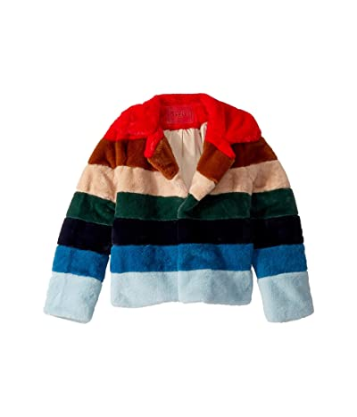 Blank NYC Kids Faux Fur Jacket in Rainbow Pop (Big Kids) (Rainbow Pop) Girl