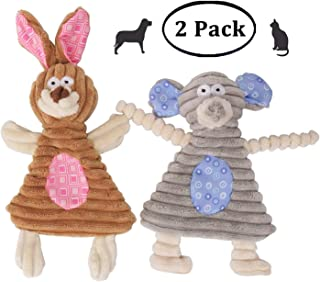 Comtim No Stuffing Dog Toys with Squeaker, Durable Dog chew Toys No Stuffing Squeaky Dog Toys for Small Dogs and Puppies