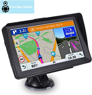 XGODY 505 5 Inch SAT NAV GPS Navigation System 128GB 8GB Car Satellite Navigator Post Code Search Speed Camera Alerts Pre-installed UK/&EU Latest 2018 Maps Lifetime Free Update