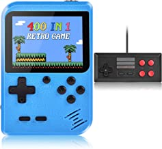 Handheld Game Console, Kiztoys Retro Video Games Console for kids with 400 Classic Games, Supporting 2 Players and TV Conn...