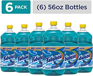 FABULOSO All Purpose Cleaner, Ocean Paradise, Bathroom Cleaner, Toilet Cleaner, Floor Cleaner, Shower and Glass Cleaner, Mop Cleanser, Kitchen Pots and Pans Degreaser, 56 Fluid Ounce (Pack of 6) (153042)