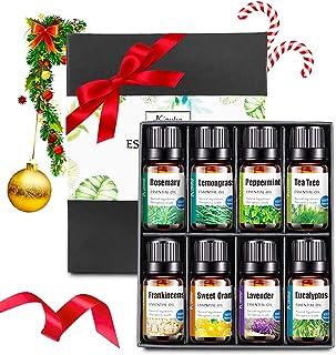 LangRay Huile Essentielle, 8x10 ml Set de Huiles Essentielles Aromathérapies Pures et Naturelles avec Arbre à Thé, Lavand...