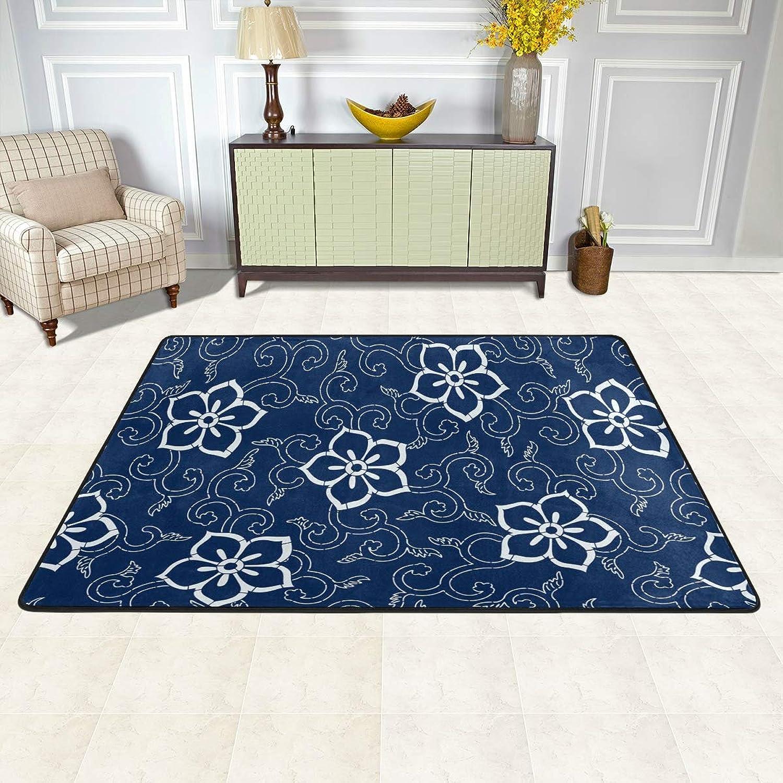 MALPLENA Floral Print Rugs for Living Room Doormat Carpet Floor Mats shoes Scraper for Living Room Dining Room Bedroom Kitchen Non Slip