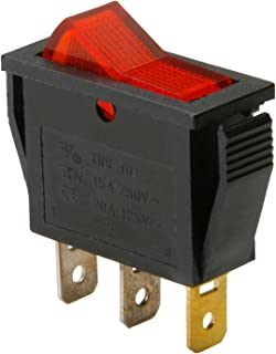 PARTS EXPRESS SPST Small Rocker Switch w/Red Illumination 125VAC