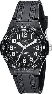 Q&Q Men's Black Dial Resin Band Watch - GT44J011Y
