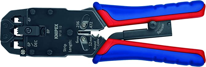 Knipex 97 51 12 Crimping Pliers for Western Plugs RJ 10