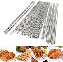 BigOtters Barbecue Skewers, 100 PCS Stainless Steel Barbecue Skewer BBQ Needle Sticks with Holder for Outings Cooking Tools