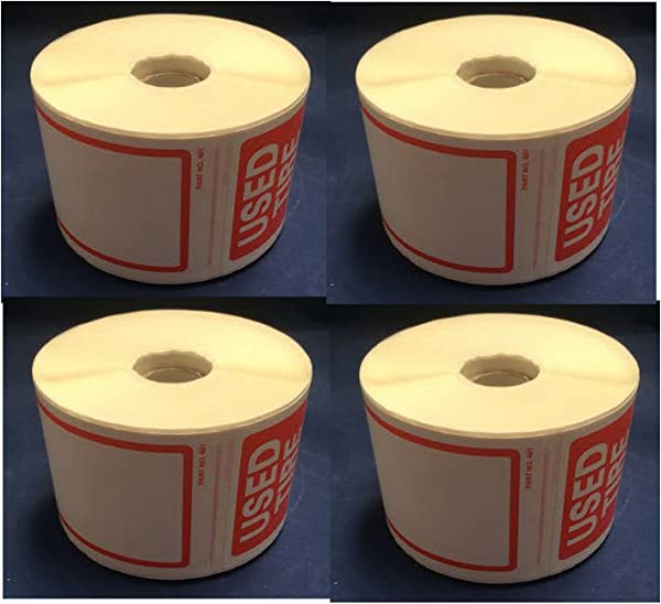 Tire Label Used Tire 4 Rolls Of 250 Stickers Total 1000 Stickers Size 6 X 2 1 2 150mm X 63 50mm