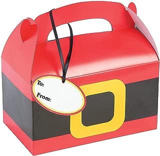 Fun Express 12 Santa Treat Boxes with Tags