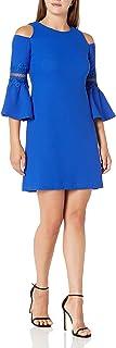 Eliza J womens Cold Shoulder A-Line Dress Dress