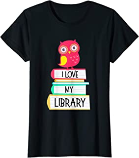 I Love My Library Owl T Shirt For Kids & Book Lovers Gifts