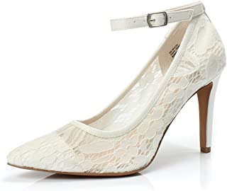 Women's Bailee Classic Breathable Jacquard Pointed Toe Stiletto Wedding Party Evening High Heel Dress Pump