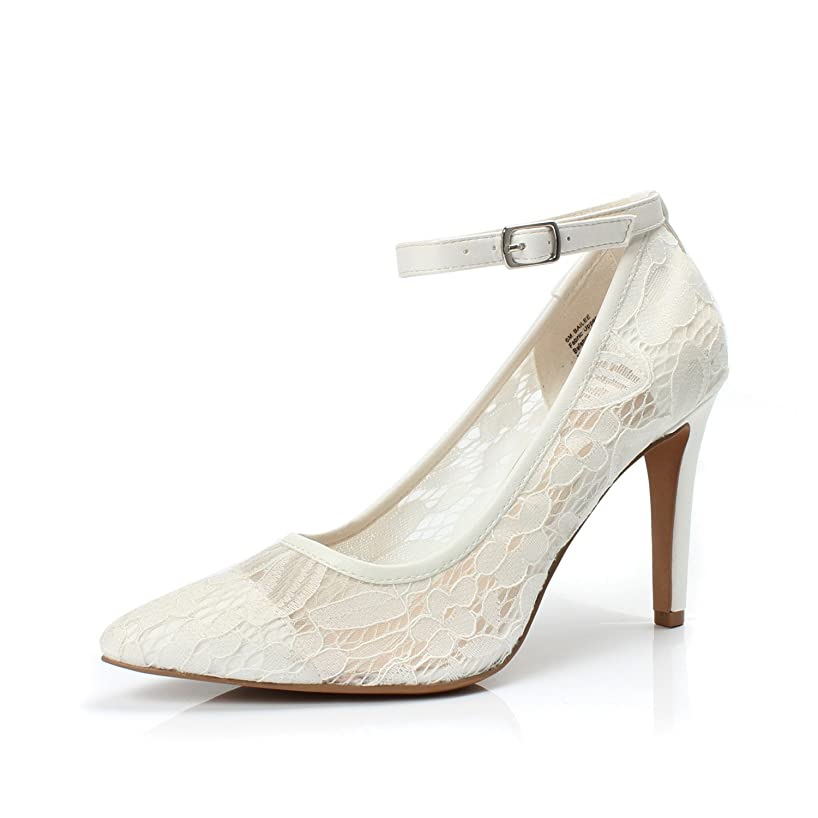 DUNION Women's Bailee Classic Breathable Jacquard Pointed Toe Stiletto Wedding Party Evening High Heel Dress Pump